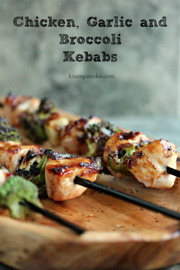 Chicken, Garlic and Broccoli Kebabs by Kiss My Smoke