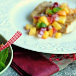 Grilled Mahi-Mahi with Peach and Pink Grapefruit Salsa
