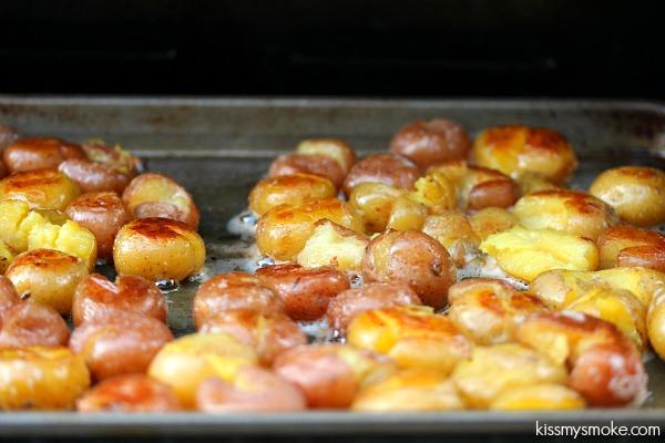 Smashed Potatoes | kissmysmoke.com | Ruby and Golden Mini Potatoes ...