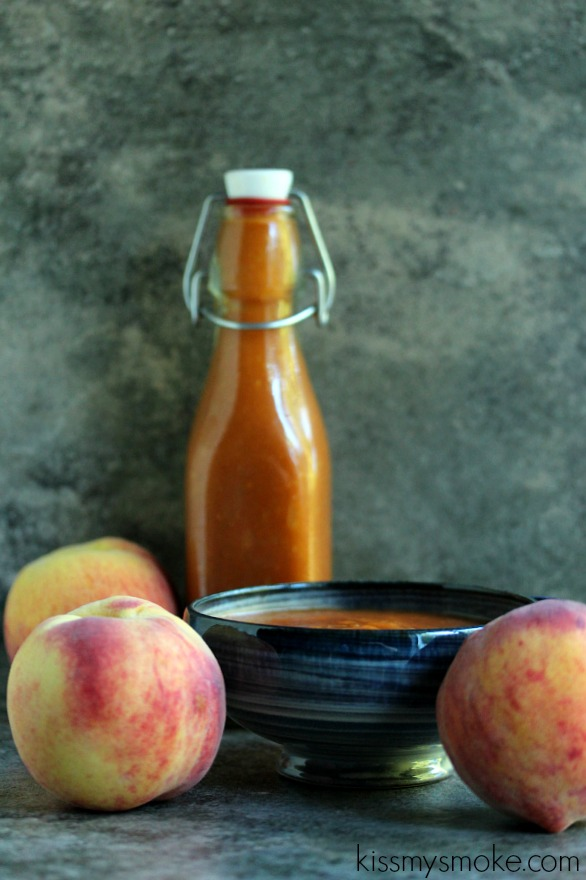 Peach Barbecue Sauce | kissmysmoke.com | #grill #bbq #barbecuesauce #peach #mop