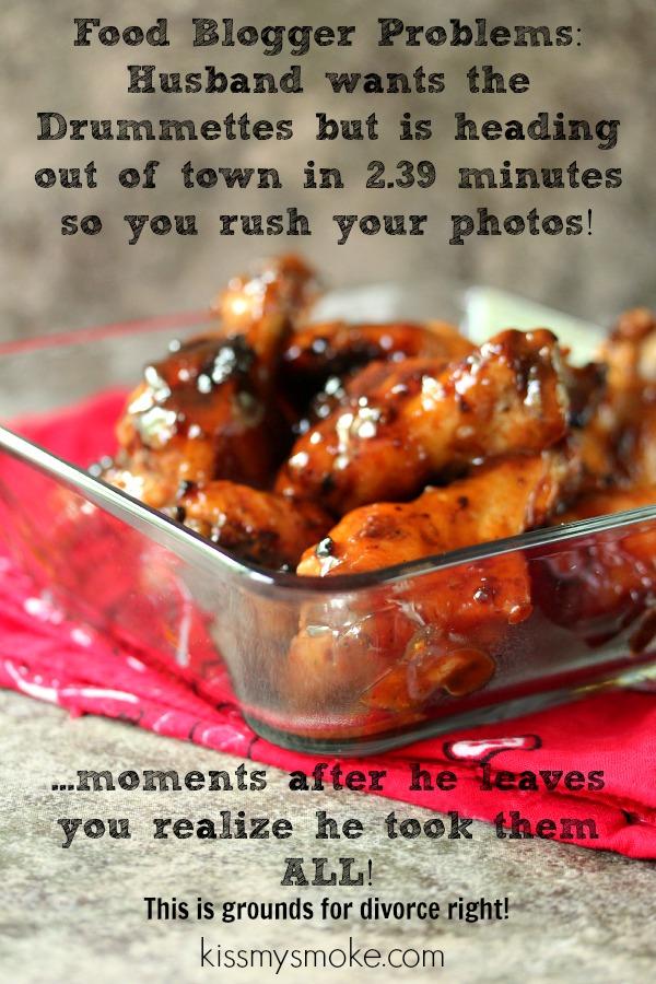Spicy Grilled Chicken Drummettes | kissmysmoke.com | #grill #bbq #appetizer #drummettes #chicken #tailgate #footballfood