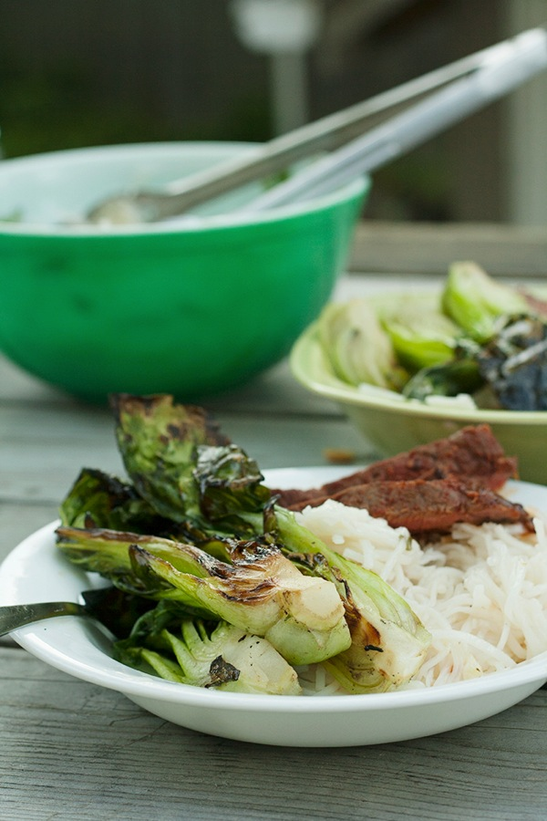 Grilled Steak Bok Choy by Savvy Eats | Beef Round Up Featured on kissmysmoke.com