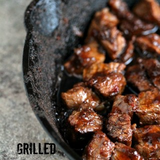 Steak Bites | Kiss My Smoke | Perfectly easy to make grilled steak bites. Seriously scrumptious!