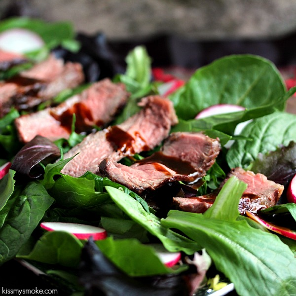 Grilled Steak Salad by kissmysmoke.com | How to take a Grilled Boneless Rib Steak and turn it into a perfect Grilled Steak Salad with a Balsamic Sauce to drizzle over top!