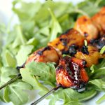Chicken, Mango and Papaya kebabs cooked to perfection!