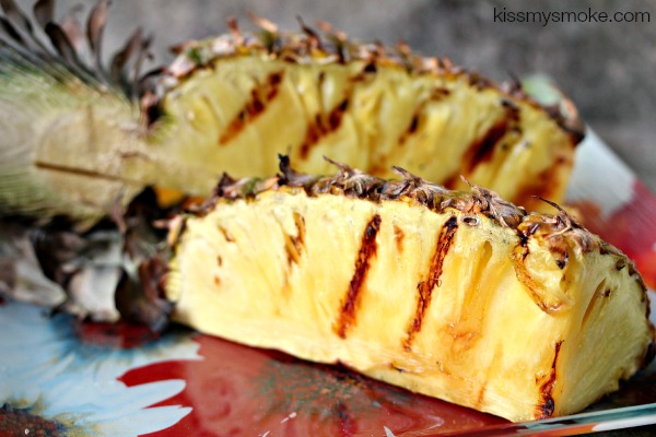 Grilled Whole Pineapple | kissmysmoke.com | This is a fun way to cook an entire pineapple on the grill.