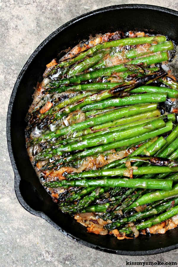 Grilled Asparagus with Brown Butter and Shallots | This recipe is ...