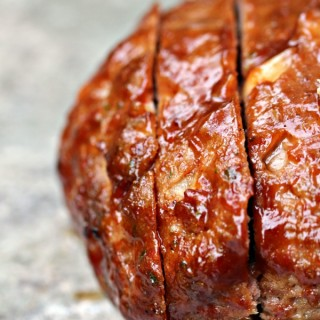 Grilled and Planked Meatloaf | kissmysmoke.com | Simple meatloaf recipe cooked on the grill on a plank.