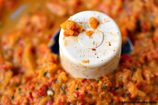 Fire Roasted Yellow and Red Pepper Pesto | Bursting with flavour, you must try this one!