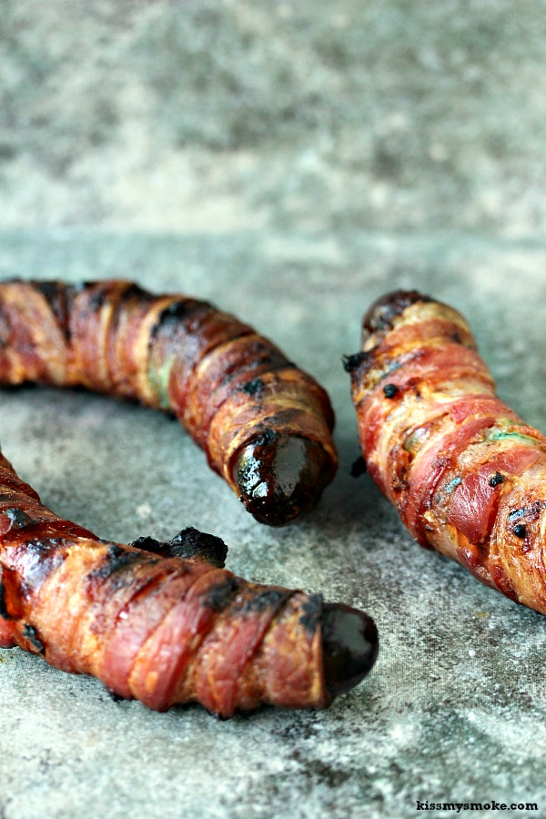 Bacon Wrapped Smoked Italian Sausages | Seriously indulgent and worth being a little bad for!