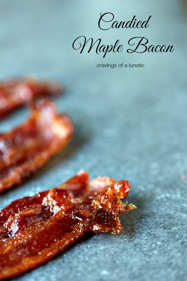Candied Maple Bacon | So easy to make, this candied bacon is maple flavoured. Sweet, and salty, it's sheer perfection.