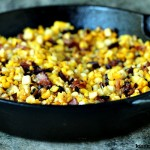 Charred Skillet Corn with Bacon