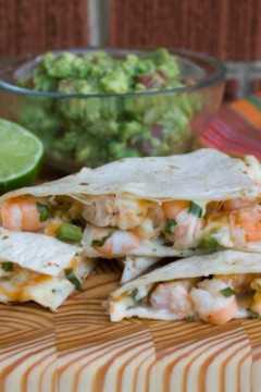 Shrimp and Jalapeño Quesadilla: Guest Post by The Black Peppercorn