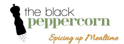The Black Peppercorn Logo