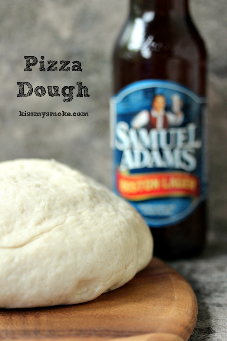 Bread Machine Pizza Dough used for making Grilled Buffalo Chicken Pizza.