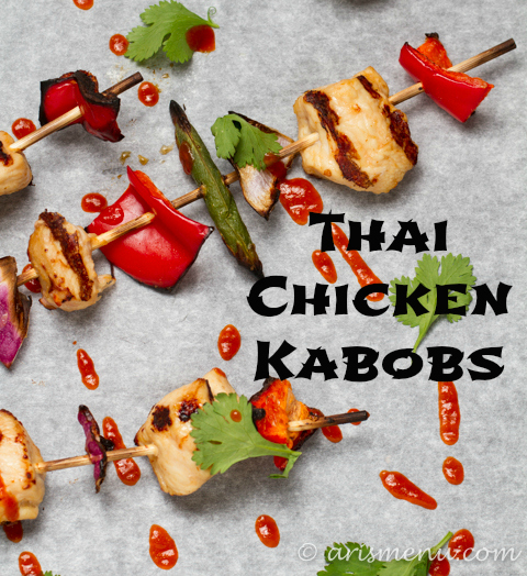 Thai Chicken Kabobs by Ari's Menu