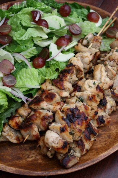 Buttermilk Chicken Kebabs from girlichef