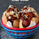 Bacon Wrapped Chili Dogs
