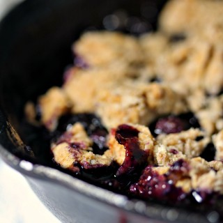 Grilled Blueberry Cobbler is the highlight of any summer meal. Use fresh berries whenever possible for maximum flavour!