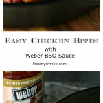 These easy chicken bites are grilled in a cast iron pan and slathered in barbecue sauce. This recipe makes me weak in the knees!