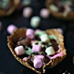 S'mores Campfire Waffle Cups